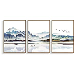 "NWT Framed Canvas Wall Art for Living Room, Bedroom Canvas Prints for Home Decoration Ready to Hanging - 16""x24""x3 Panels"