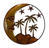Home Furnishings & Collectables by MVL Handmade Crescent Moon Island Sun Stars & Palms Metal Wall Art Decor Sculpture Review