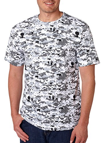 Code V Adult Camouflage Ribbed Woodland T-Shirt, Urban Digital, (Digital Woodland Camo Design)