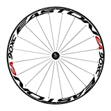 Bike Bicycle Wheel Rims Light Reflective Stickers Decal, RuiyiF Colorful Cycling Wheel Reflective Tape - Black + Red
