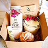 Best Grandma Gifts, Best Grandma Ever Gifts by Beets & Apples, Spa Gift Basket for Best Grandmother - Birthday Gift Set (Personalised note available)