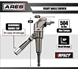 ARES 70790 | Right Angle Driver | Max Torque of 504 in/lbs | For Use with 18 Volt or 2,000 RPM Drills | Features Quick Release | Easily Swap Out 1/4-inch Drive Bits