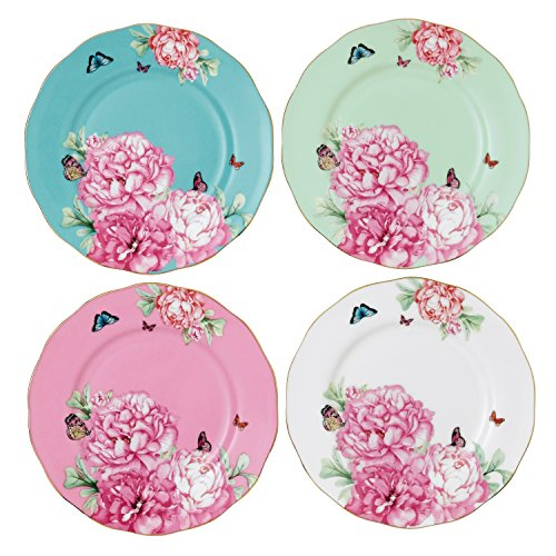 Royal Albert 40001836 Blessings, Joy, Gratitude and Devotion Tidbit Plates Designed by Miranda Kerr, 3.9-Inch, Set of 4