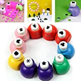 Mini Paper Craft Punch DIY Hole Puncher for Festival Papers and Greeting Card Set of 24 Different Shape