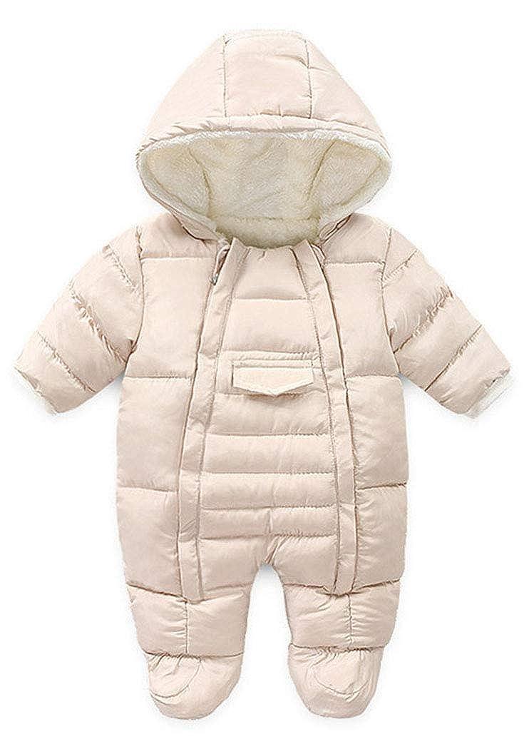 Ohrwurm Infant Baby Onesie Jacket Fleece Lined Romper with Gloves Warm Winter Snowsuit