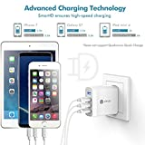 iClever Boostcube+ 40W 4-Port USB Wall Charger, Travel USB Power Adapter with SmartID Technology for iPhone X/8/7/7 Plus/6S/6 Plus, iPad Pro Air/Mini and other Cell Phone, Tablet