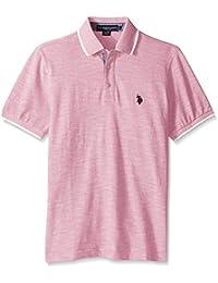 U.S. Polo Assn. Men's Short Sleeve Solid Classic Fit Slub Shirt