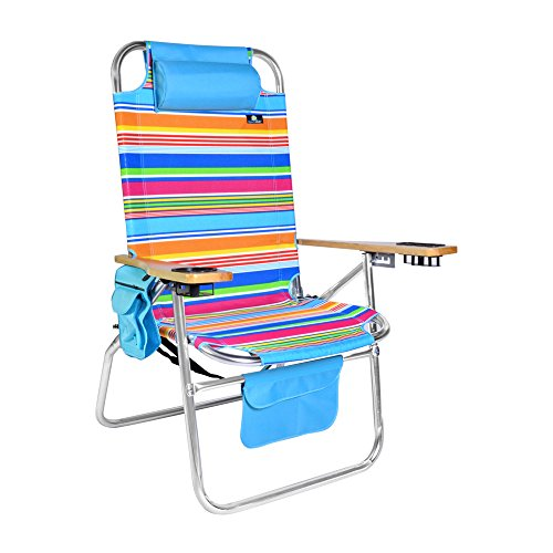 gh-Wide Aluminum Beach Chair 16.5 inches seat height - 300 lb Load Capacity (Big Boy Chair)