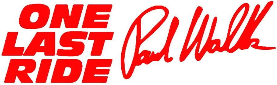 UTUT Car Sticker Paul Walker One Last Ride Letters Reflective Car Vehicle Decals Sticker Decor Black