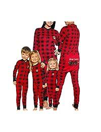 hujukuludusu Family Matching Christmas Plaid Pajama Set Nightwear Homewear Sleepwear