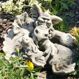 Garden A Devonshire Garden Figures Syos Dragon U0026 Feo, Antique Grey