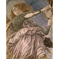 Music Making Angel with Tambourine Melozzo da Forl (1438-1494Italian) Fresco Vatican Museums and Galleries Vatican Poster Print (24 x 36)