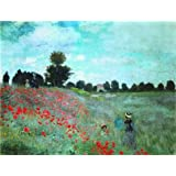 Canvas Prints Of Oil Painting ' The Poppy Field, 1873 By Claude Monet ' , 10 x 13 inch / 25 x 33 cm , High Quality Polyster Canvas Is For Gifts And Basement, Foyer And Game Room Decoration, service