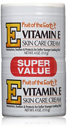 Fruit of the Earth Vitamin-E Cream 4 oz. + 4 oz. Jar (Case of 6)