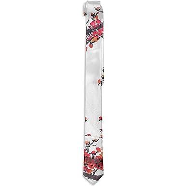 Corbata floral impresa de los hombres, rama japonesa de Sakura de ...