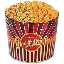 Popcornopolis Gourmet Popcorn 1.26 Gallon Tin (Caramel & Cheddar)