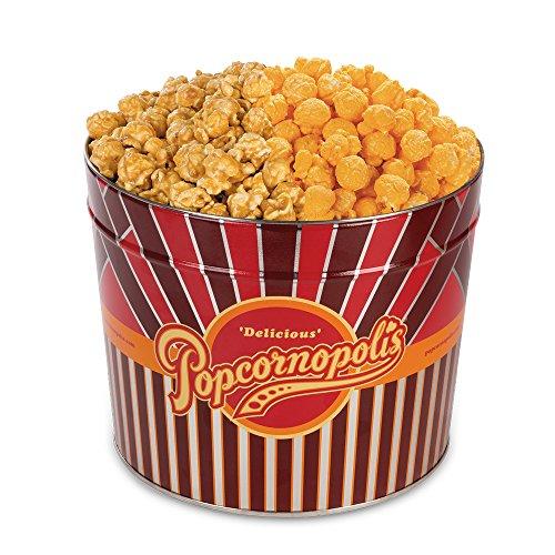 (Popcornopolis Gourmet Popcorn 1.26 Gallon Tin (Caramel & Cheddar))