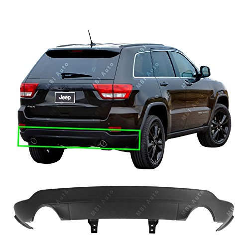 MBI AUTO – Textured, Black Rear Lower Bumper Cover for 2011-2015 Jeep Grand Cherokee W/ Dual Exhaust 11-15, CH1195103