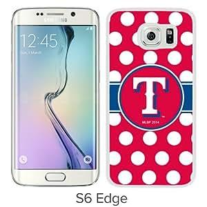 Grace Protactive Texas Rangers White Case Cover for Samsung Galaxy S6 Edge