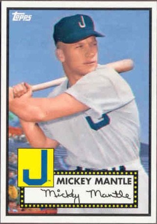 Mickey Mantle Topps Commemorative Minor League Baseball Card