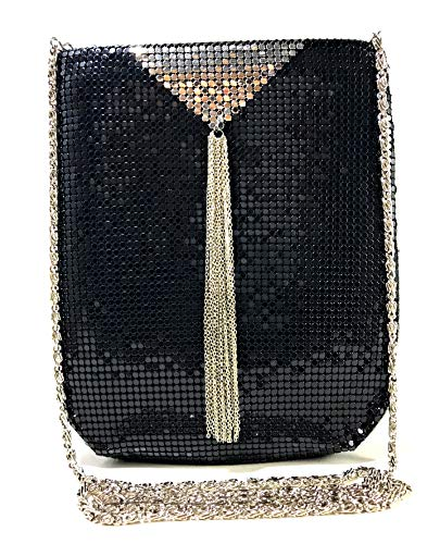 (Womens clutch metal mesh evening purse bag for Cocktail Party Prom Wedding Banquet)