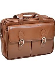McKlein USA Kenwood Leather 15.6 Laptop Case (Cognac)