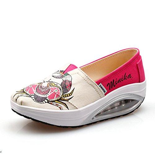 Femmes Chaussures Mocassins Chaussures amp; Shake Printemps plats sport Fitness de Chaussures Chaussures Slip Chaussures Ons B Chaussures Sneakers de Chaussures de Shake Automne Mocassins Secouer Conduite rqOr7wAt