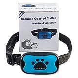 [Newest Design] NO SHOCK Anti-Bark Dog Collar, Extremely Automatic Effective humane 100% Safe No Pain Vibrant Sound Stimuli Training Tool for Small Medium Large Dog under 50 pounds Excessive Barking