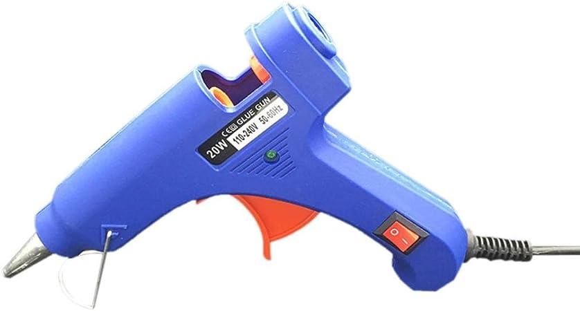 Image of Pistola de Silicona, Pistola de Pegamento STRIR Melt Trigger Para mini metal, Madera, Vidrio, Tela, Plástico, Cerámica DIY y Proyectos de Reparación (Azul)