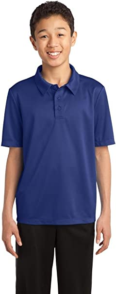 Port Authority Youth Silk Touch Performance Polo Y540 Brilliant Blue M