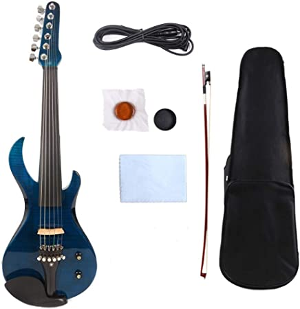 XTQDM Violín 6 Cuerdas violín eléctrico 4/4 Guitarra Que te Preocupes Hermoso Timbre Libre Estuche Arco Cable, no Tiene traste violín: Amazon.es: Hogar