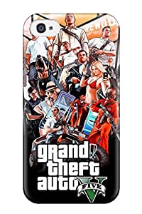 Cute Appearance Cover/tpu YEAMcYr7389JAouA Gta V Case For Iphone 4/4s