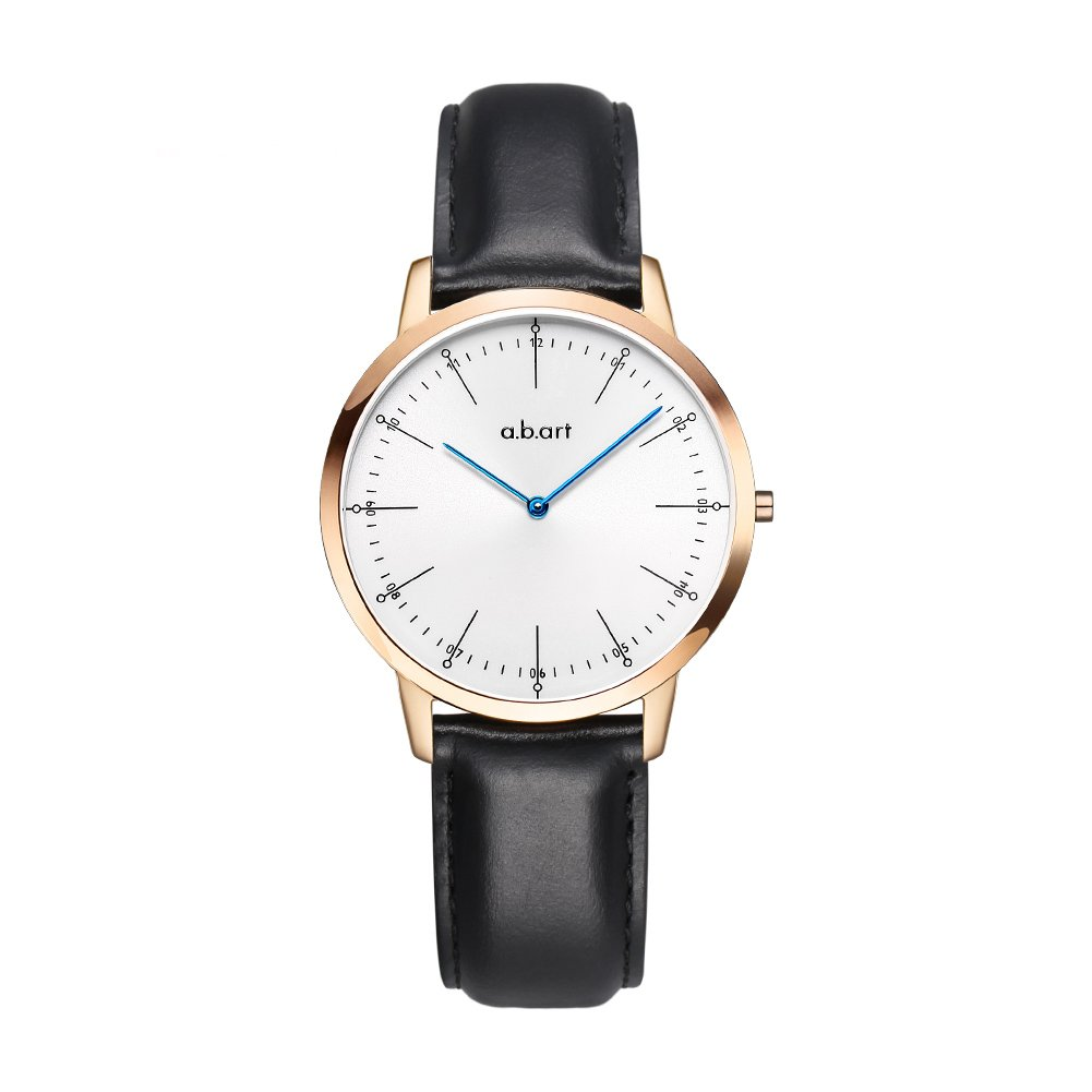 abart Women Wrist Watches FL36-001-1L Ronda Quartz Lady Bracelet Watch (Lido (Oily Cowhide)-Black) by a.b.art