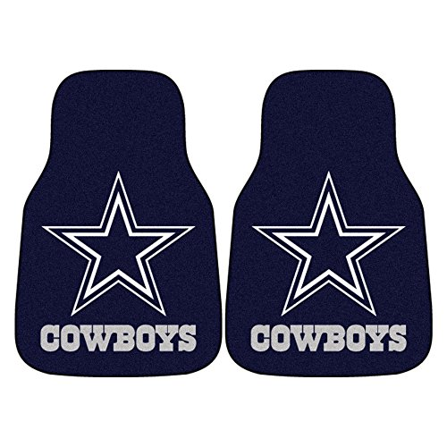FANMATS NFL Dallas Cowboys Nylon Face Carpet Car Mat (Cowboys Car Mats Dallas Nfl)
