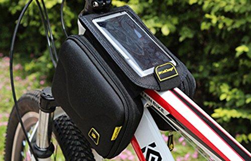 Cycling Bike Fahrradrahmen Pannier vorne Rohr Tasche Tasche, schwarz