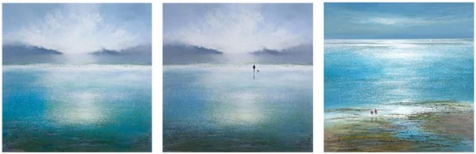 Blanriguelo Moderno nórdico Azul océano Paisaje Marino
