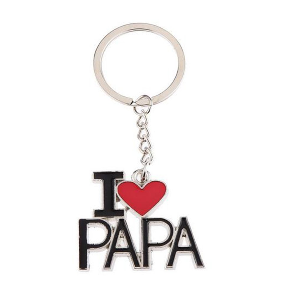 Hosaire Metal Keychain Creative Small Gift Día del padre Día de la madre Christmas Gift Ornament (Mom)