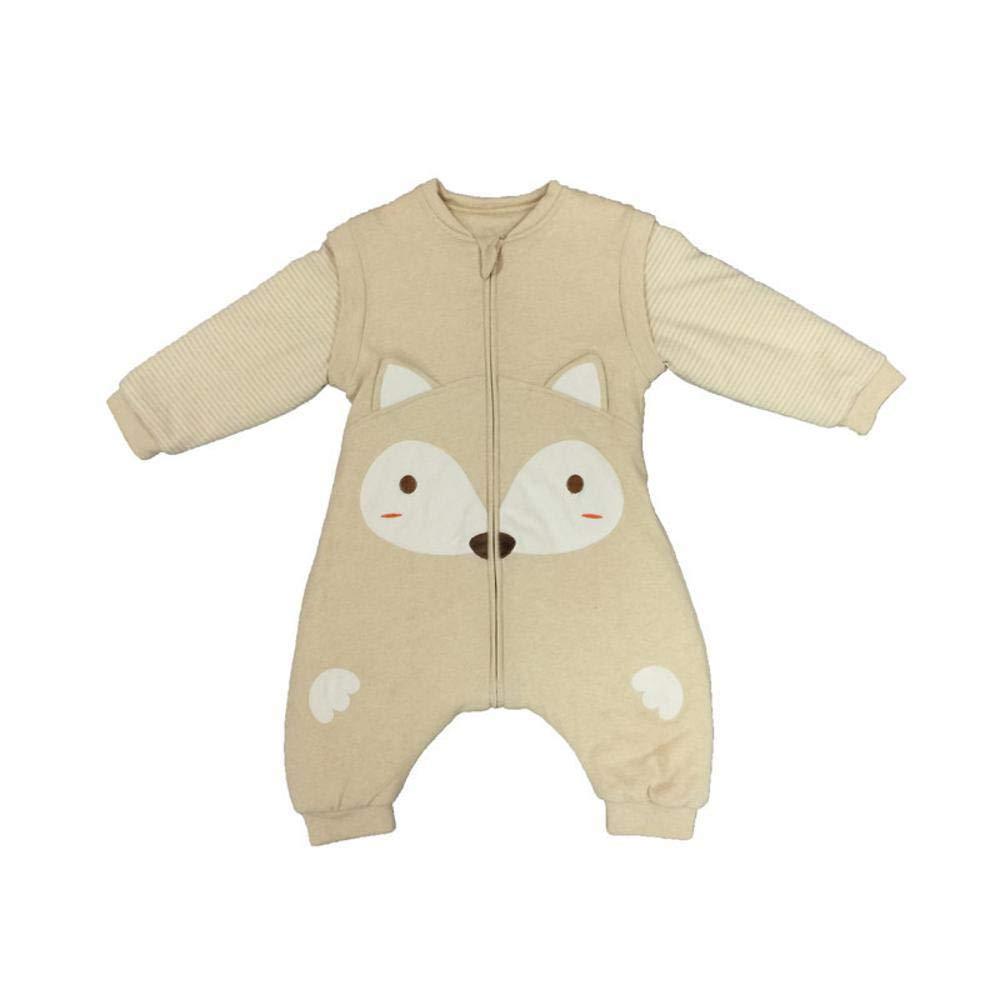 Gleecare Saco de Dormir para bebé,Algodón orgánico Natural Divide la Patada de Pierna Saco algodón por otoño Invierno Aire Acondicionado albergue Pijamas ...