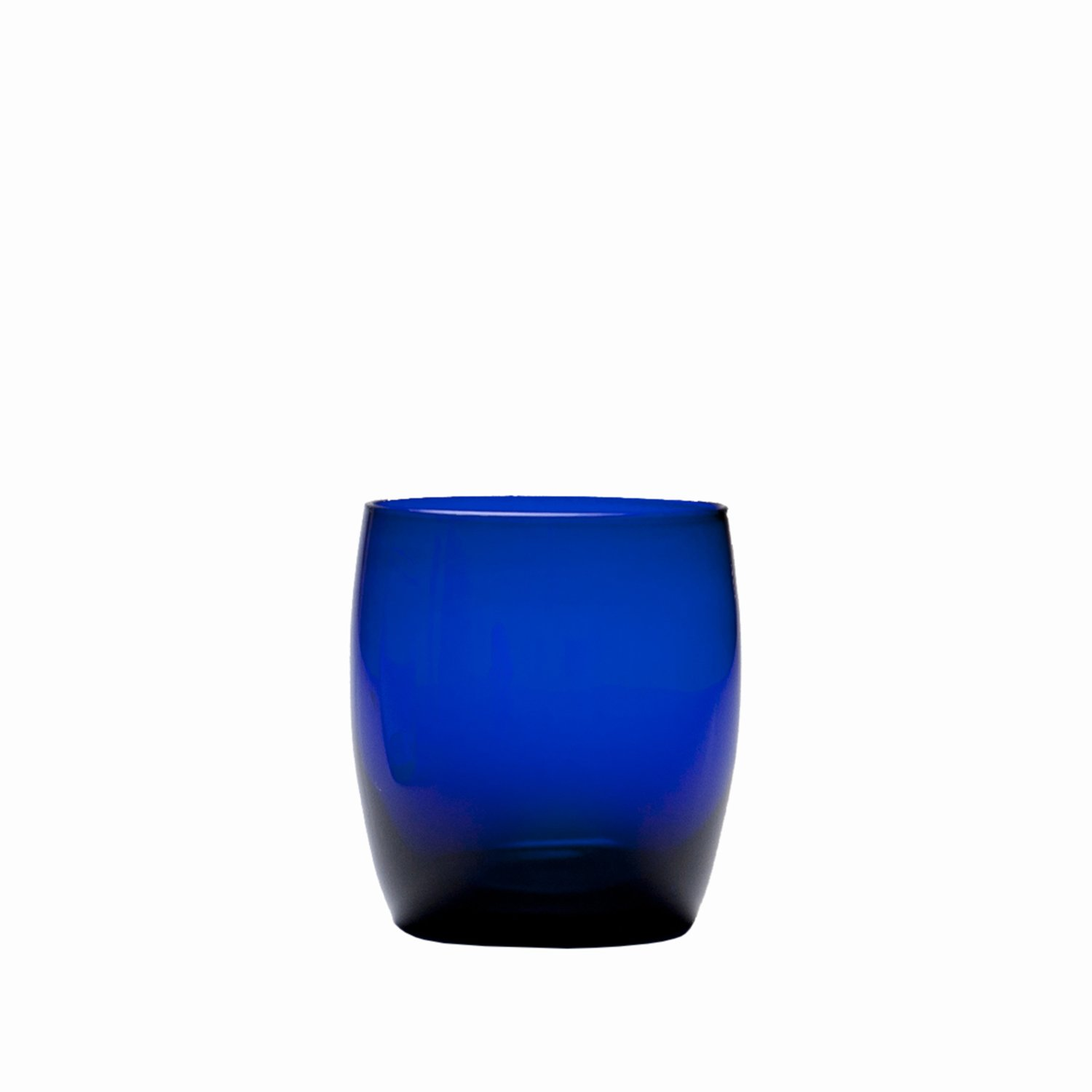 D&V Glass Gala Collection Short Beverage/Cocktail Glass 15 Ounce, Cobalt, Set of 12