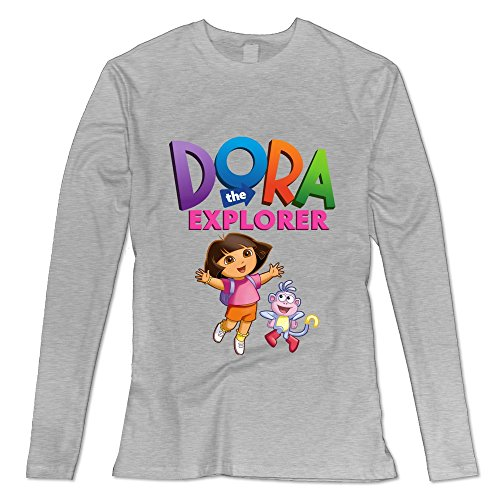 [Seico Women's Dora The Explorer Boots T-shirts Ash Size L] (Swiper Costumes For Adults)