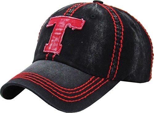 Hat Era Vintage (KBVT-610 BLK Fashion Vintage Baseball Cap Distressed Washed Dad Hat Adjustable)