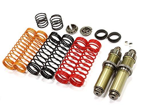 Integy RC Model Hop-ups T6710GUN Big Bore Threaded Shock Body (2) Kit w/ Springs for HPI Savage Flux & X 4.6 2011