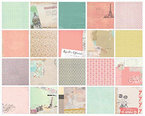 - IDULL Floral Cardstock Paper Pad 8x8 40 Sheets