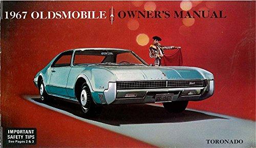 bishko automotive literature 1967 Oldsmobile Toronado Owners Manual User Guide Reference Operator Book Fuses