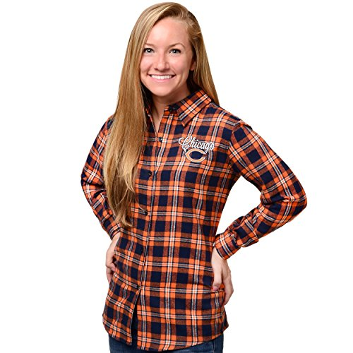 Chicago Bears 2016 Wordmark Basic Flannel Shirt - Womens Small