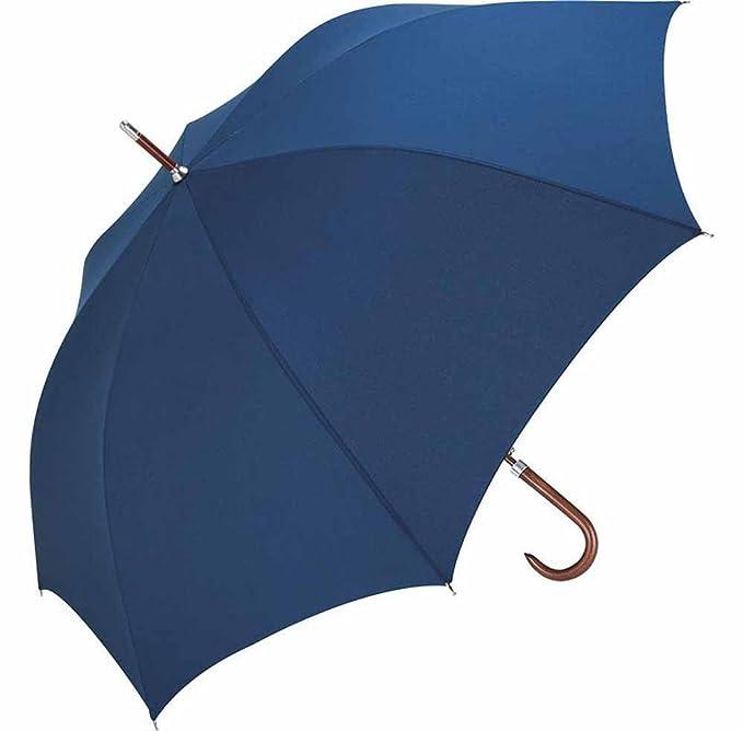 FARE - Paraguas Golf 120 cm - Mango y bastón madera - 7350 azul marino talla única: Amazon.es: Ropa y accesorios