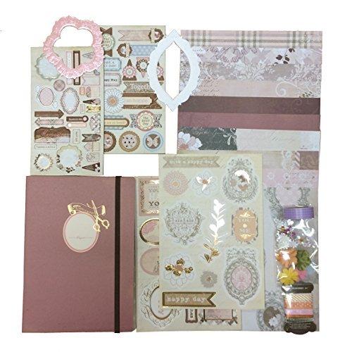 Kit de scrapbooking avec embellissements, Washi Ruban adhésif et Découpe de nombreuses formes Whimsy Designs