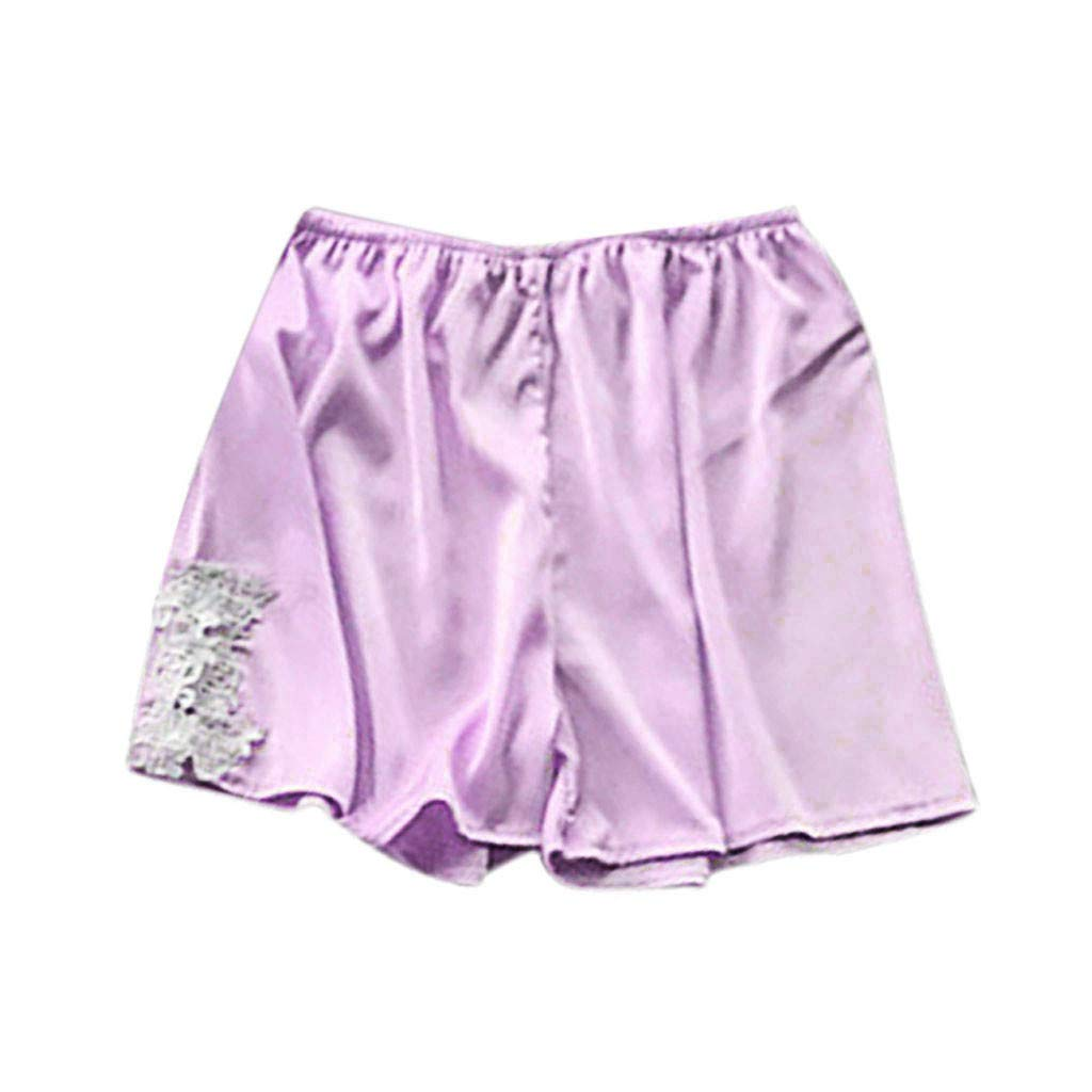 JFLYOU Women Sexy Lingerie Plus Size Lace Loose Nightwear Babydoll Pajamas Short Pants(MulticolorB,M)