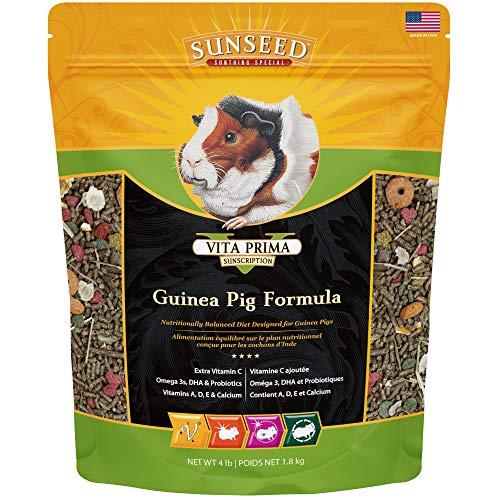 Sunseed 49100 Vita Prima Sunscription Guinea Pig Food - High Fiber Timothy Formula, 4 LBS Size