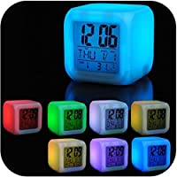 Despertador Digital Cubo Led 7cores Colorido na Shoppstore Color Change